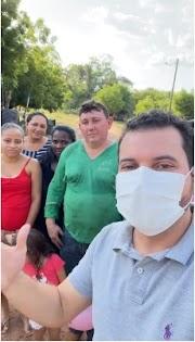 Prefeito Deibson Balé acompanha preparativos das ações que serão realizadas no povoado Santa Maria dos Ricardos