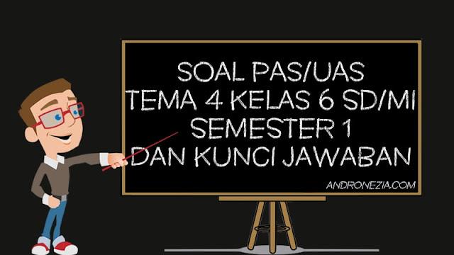 Soal PAS/UAS Tema 4 Kelas 6 SD/MI Semester 1 Tahun 2021