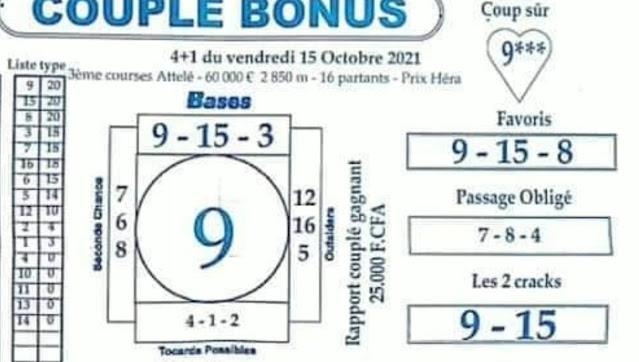 Pronostic quinté vendredi Paris-Turf TV-100 % 15/10/2021