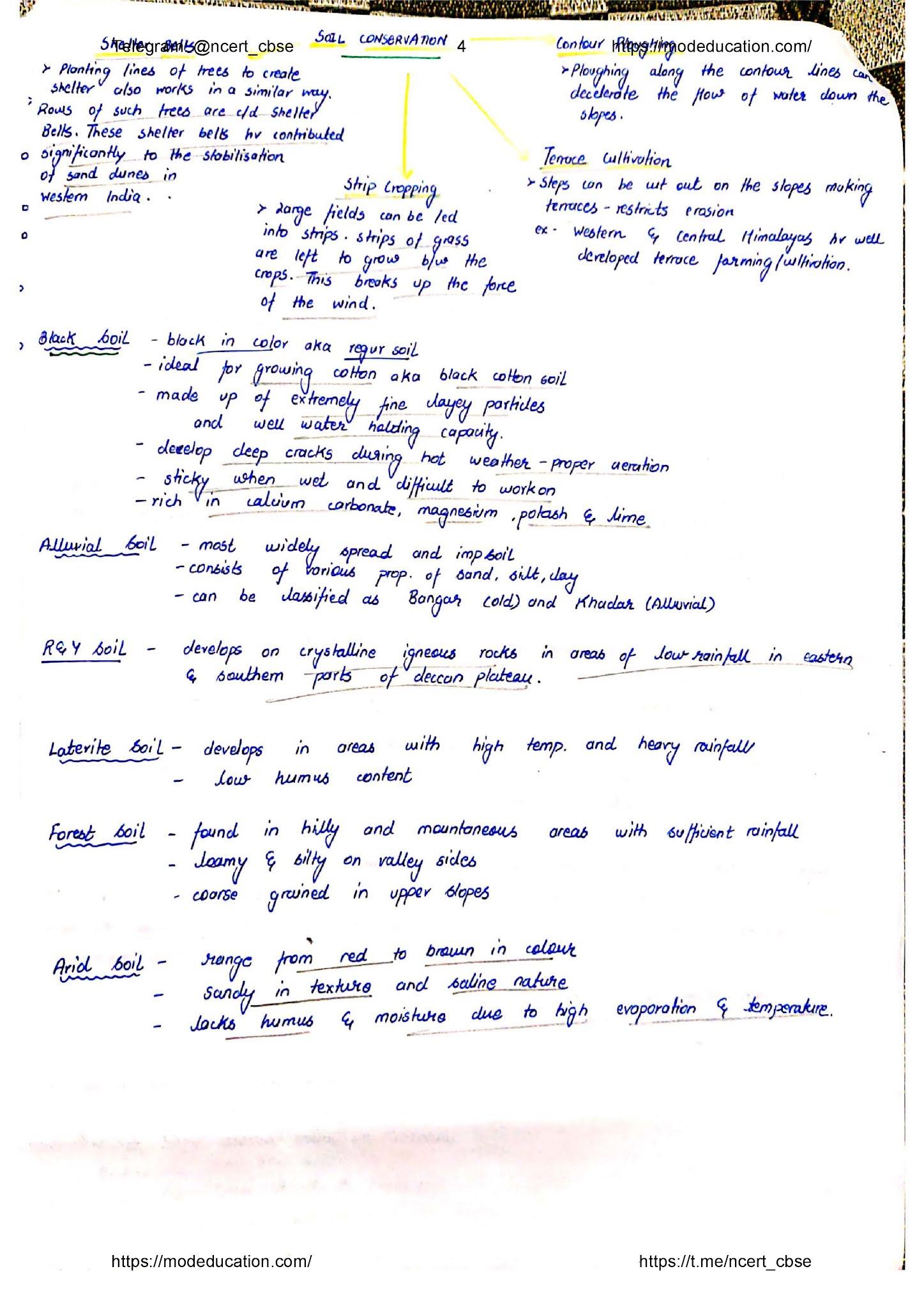 Class 10 Geography Handwritten Notes, class 10 geography chapter 2 handwritten notes