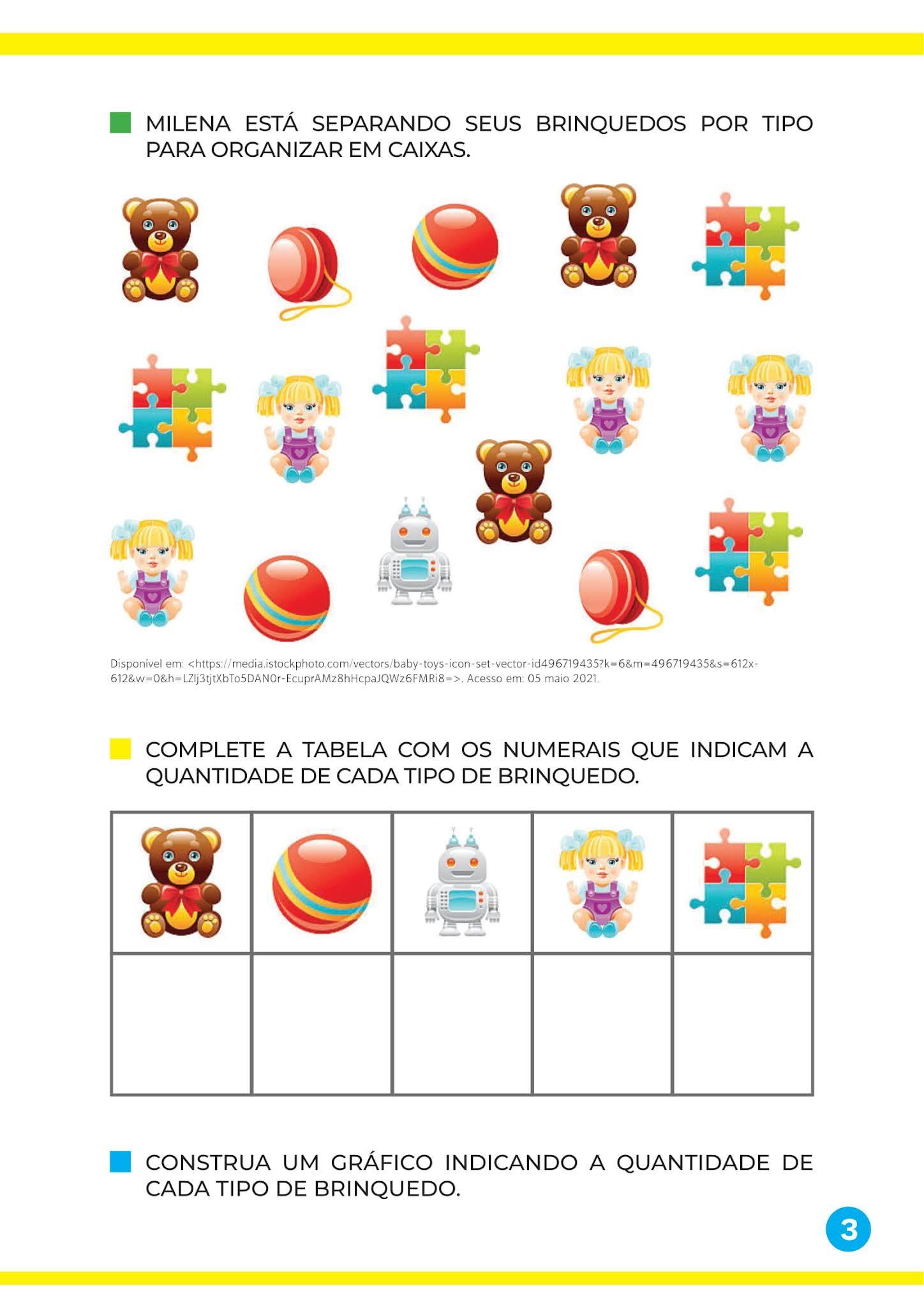 Atividade Órgão do sentido: o paladar, sabor dos alimentos e tipos de brinquedos - Educação Infantil