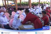 Usai Sasar Kawasan Pesisir, TNI AL Sasar Vaksinasi Santri Di Jombang