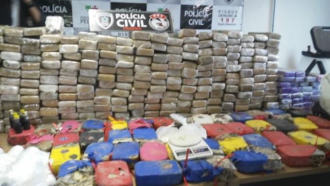 Duas pessoas são presas e 350 kg de drogas são encontrados enterrados em granja, em João Pessoa
