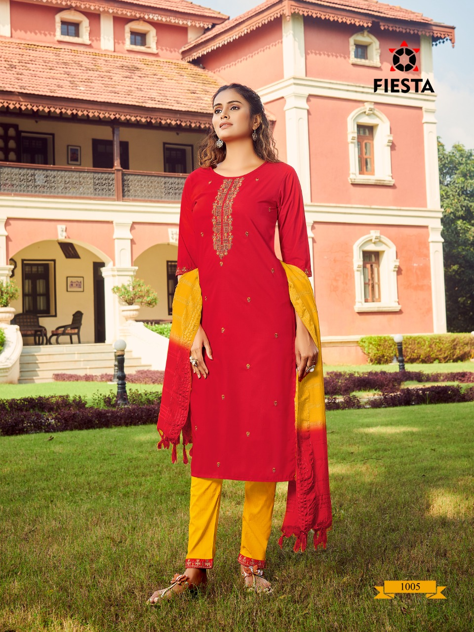 Fiesta Gulbaag Readymade Pant Style Suits Catalog Lowest Price