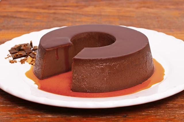 Receita Pudim Diplomata de Chocolate