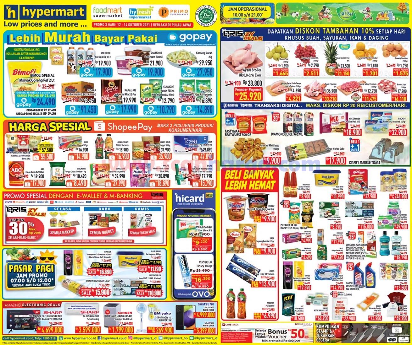 Katalog Promo HyperMart Weekday 12 - 14 Oktober 2021